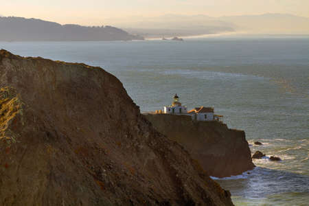 Point Bonita Lighthouse by San Francisco Bay entrance in the Marin Headlands near Sausalito California