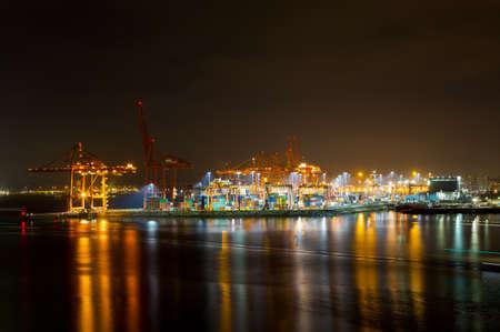 Port of Vancouver British Columbia at Night