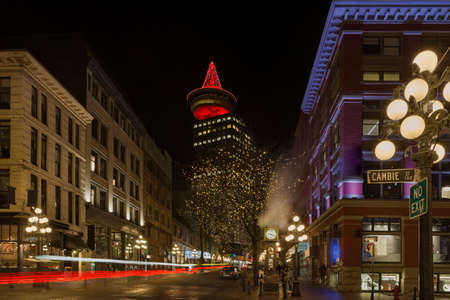 Gastown in Vancouver British Columbia Canada nightlife