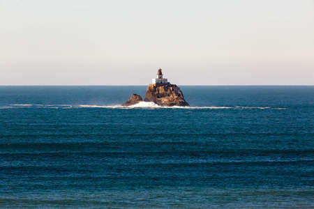 Tillamook Rock Lighthouse off the Coast of Oregon in Pacific Ocean on a calm day