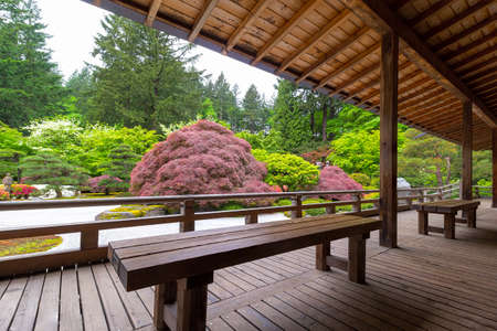View of Japanese Garden from the Veranda of the Pavilion