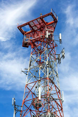 Mobile phone communication internet signal cell tower Stock Photo