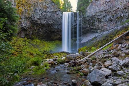 Tamanawas Falls along Cold Spring Creek near Mount Hood Oregon Closeup