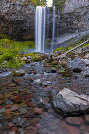 Tamanawas Falls along Cold Spring Creek near Mount Hood in Oregon Stock Photo