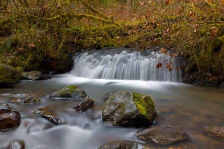 Waterfall at McDowell Creek County Park in Oregon