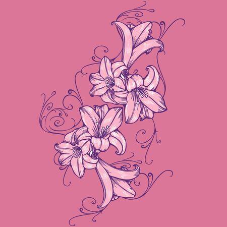 adorn floral Vector