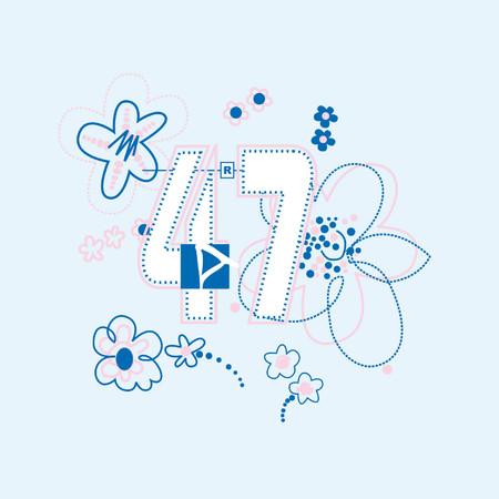 hojas: flor 47