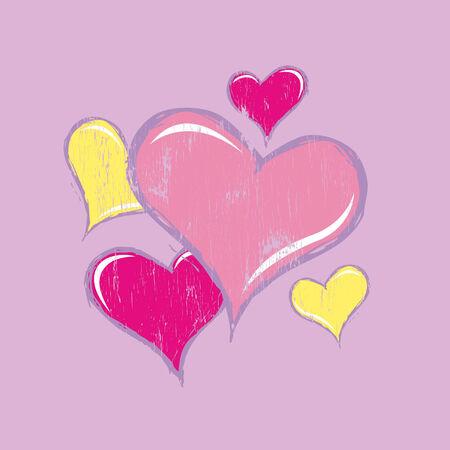 composicion de corazones