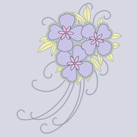 hojas: flor artistica Illustration
