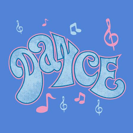 baile: grafiti sobre el baile con textura Illustration