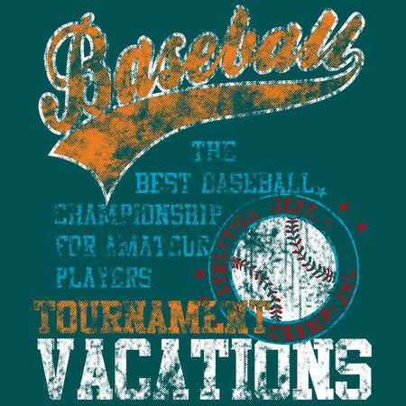 pelotas de baseball: Deportivos de dise�os para ropa y muchos m�s art�culos  Vectores