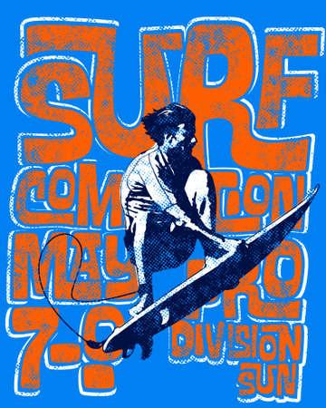 textured surf scene wear Illustration
