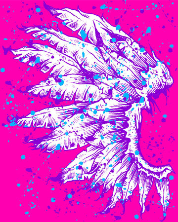 drawing of a wing with artistic style