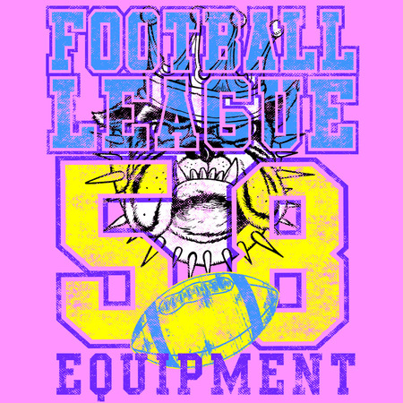 league: DOGS FOOTBALL LEAGUE Illustration