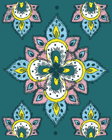 ethnic design for decorations and compositions with embroidery effect