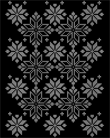 Ethnic design for decorations and compositions with embroidery effect. Illustration