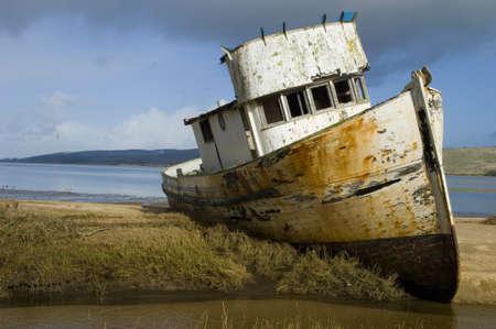Boat Stuck in Mud