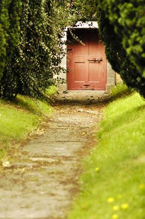 Path to Red Door Stock Photo - 12264919