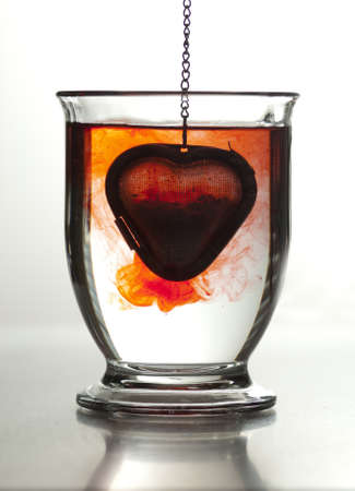 glass heart: Valentine Stock Photo