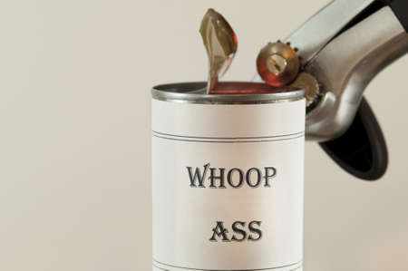 Opening a can of Whoop Ass.