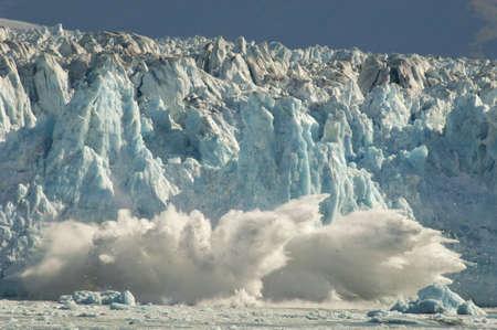 calentamiento global: Glaciar de Parto Foto de archivo
