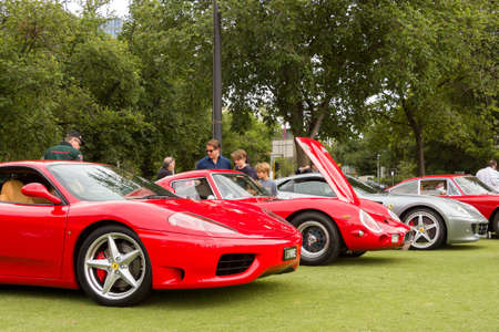 hosted: The  Alfa Romeo Owners Club of Australia hosted the Alfa Romeo Spettacolo, an annual high-end car show, at Wesley College in Melbourne, Australia on November 29, 2015. Editorial