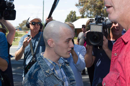 MELTON, VICTORIAAUSTRALIA - NOVEMBER 2015: Anti Racism protesters violently clashed with reclaim australia groups rallying agsint Mulsim immigration. Editorial