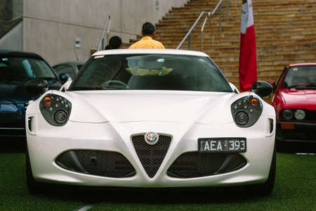 romeo: MELBOURNEAUSTRALIA - JANUARY 31: Car enthusists display their cars at the Car Club Showcase, Federation Square, Melbourne held on the 31st January 2016. Held on the last Sunday of every month it was the Alfa Romeo Owners Clubs turn to show off some of  Editorial