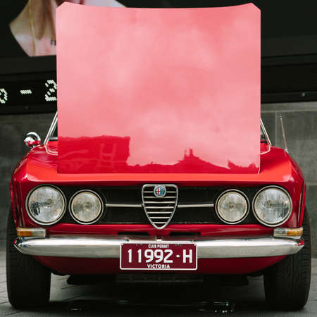 leasure: MELBOURNEAUSTRALIA - JANUARY 31: Car enthusists display their cars at the Car Club Showcase, Federation Square, Melbourne held on the 31st January 2016. Held on the last Sunday of every month it was the Alfa Romeo Owners Clubs turn to show off some of  Editorial