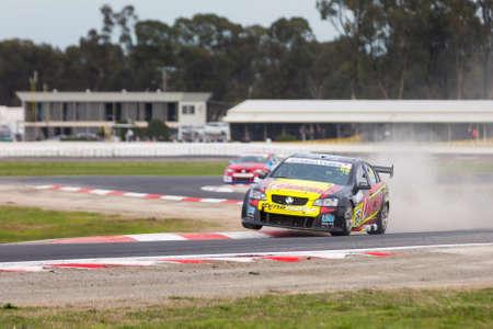 v8: MELBOURNE, WINTONAUSTRALIA, 22 MAY , 2016: Kumho Tyre Australian V8 Touring Car Series, Round 2 - Jack Sipp (Unichip Dynomotive) during Race 1 at Winton. Editorial