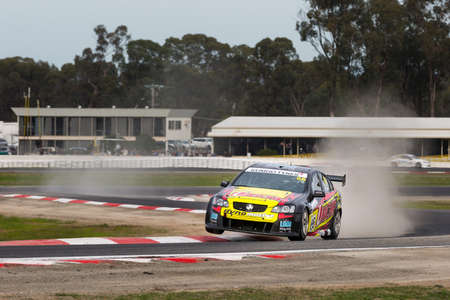 v8: MELBOURNE, WINTONAUSTRALIA, 20 MAY , 2016: Jack Sippss Holdon Commodore sees air in the Kumho Tyre Australian V8 Touring Car Series, at Winton