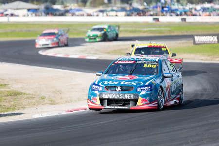 craig: MELBOURNE, WINTONAUSTRALIA, 22 MAY , 2016: Virgin Australia Supercars Championship  - Craig Lowndes (Team Vortex) during qualifying at Winton. Editorial