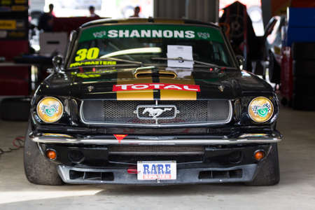 MELBOURNE, WINTON/AUSTRALIA, 22 MAY , 2016: One of the Touring Car Master Series Race cars on display at Winton Raceway.