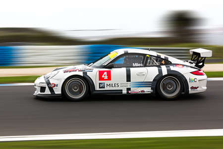 MELBOURNE/AUSTRALIA - SEPTEMBER 10, 2016: Tim Miles behind the wheel of the CSF Radiators/Miles Advisory Partners GT3 for Race 1 at Round 6 of the Shannon's Nationals at Phillip Island GP Track in Victoria, Australia - 9-11 September.