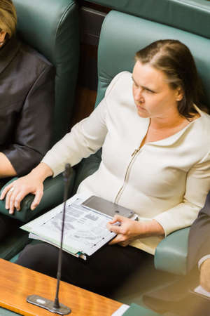 MELBOURNE/AUSTRALIA - AUGUST 16, 2016: Jane Garrett in parliament on Tuesday, after being assulted by a women in Carlton on Monday.