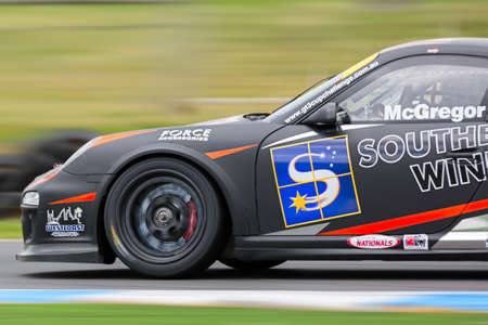 MELBOURNEAUSTRALIA - SEPTEMBER 10, 2016: Ross McGregor behind the wheel of the Southern Star Windows GT3 for Race 2 at Round 6 of the Shannons Nationals at Phillip Island GP Track in Victoria, Australia - 9-11 September. Editorial