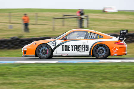 MELBOURNE/AUSTRALIA - SEPTEMBER 10, 2016: Tony Martin behind the wheel of the The Triffid Bar Venue GT3 for Race 2 at Round 6 of the Shannon's Nationals at Phillip Island GP Track in Victoria, Australia - 9-11 September.