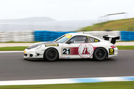 MELBOURNE/AUSTRALIA - SEPTEMBER 10, 2016: Shane Barwood behind the wheel of the Melbourne Orthopaedic Group GT3 for Race 1 at Round 6 of the Shannon's Nationals at Phillip Island GP Track in Victoria, Australia - 9-11 September.