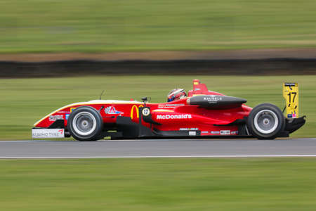 MELBOURNE/AUSTRALIA - SEPTEMBER 10, 2016: Christopher Anthony behind the wheel of the McDonalds Gilmour Racing Formula 3 car for qualifying at Round 6 of the Shannon's Nationals at Phillip Island GP Track in Victoria, Australia 9-11 September. Editorial