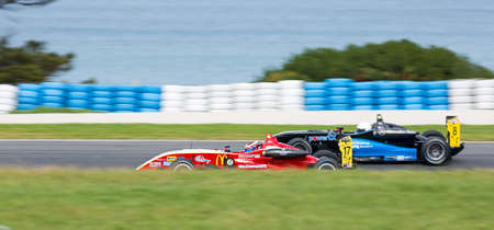 MELBOURNEAUSTRALIA - SEPTEMBER 10, 2016: Christopher Anthony behind the wheel of the McDonalds Gilmour Racing Formula 3 car for Race 2 at Round 6 of the Shannons Nationals at Phillip Island GP Track in Victoria, Australia 9-11 September. Editorial