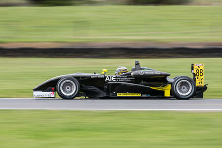 MELBOURNE/AUSTRALIA - SEPTEMBER 10, 2016: Tim Macrow behind the wheel of the AIE Alpine Motorsports Formula 3 car for qualifying at Round 6 of the Shannon's Nationals at Phillip Island GP Track in Victoria, Australia 9-11 September.