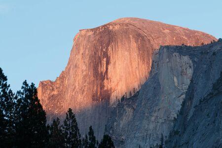 alpenglow: Half Dome sunset alpenglow, California, Yosemite National Park, Taken 09.14