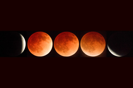完全月食複合 2014 年 4 月オレゴン州アッシュランド、カスケード ・ シスキュー国立記念碑、撮影 05.14