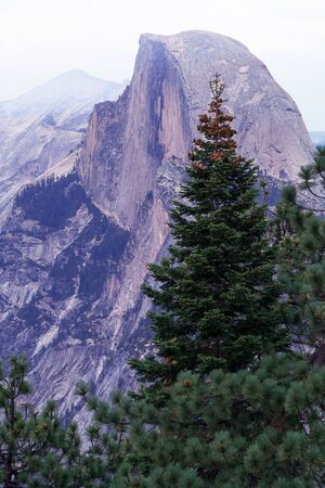 alpenglow: Half Dome alpenglow, California, Yosemite National Park. Taken 10.13 Stock Photo