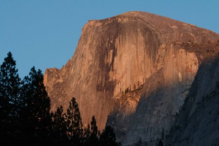 alpenglow: Half Dome alpenglow, California, Yosemite National Park. Taken 09.14