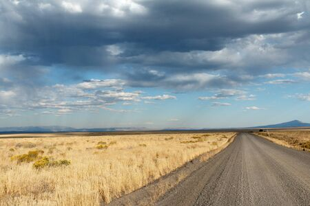 Open road, Oregon, Lakeview, Hart Mountain, Taken 09.14