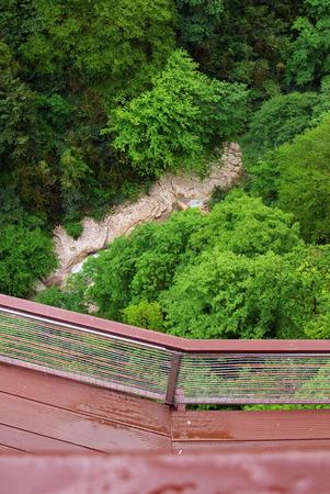 kutaisi: Suspended walkway in Okace canyon, Georgia