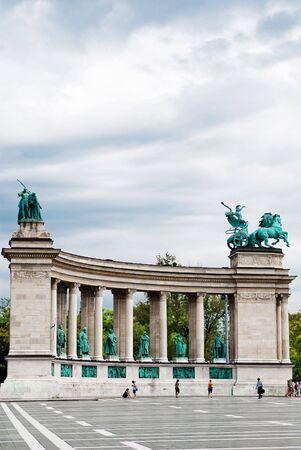heros: The Heros square near the Varosliget (main city park of Budapest)