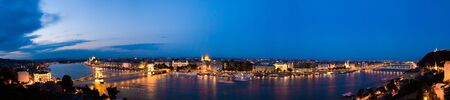 Panorama of Budapest in the twilight