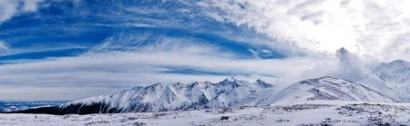 A landscape from Barcaciu with Serbota, and Negoiu edges, in Fagaras mountains Stock Photo - 7605294